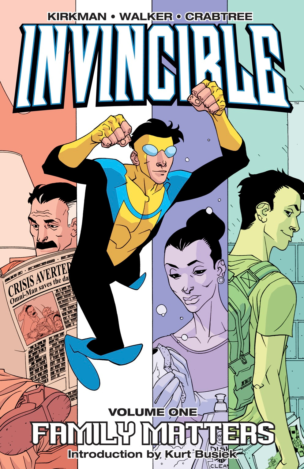 Invincible, Vol. 1 (tpb), cover, Image Comics, Kirkman/Walker