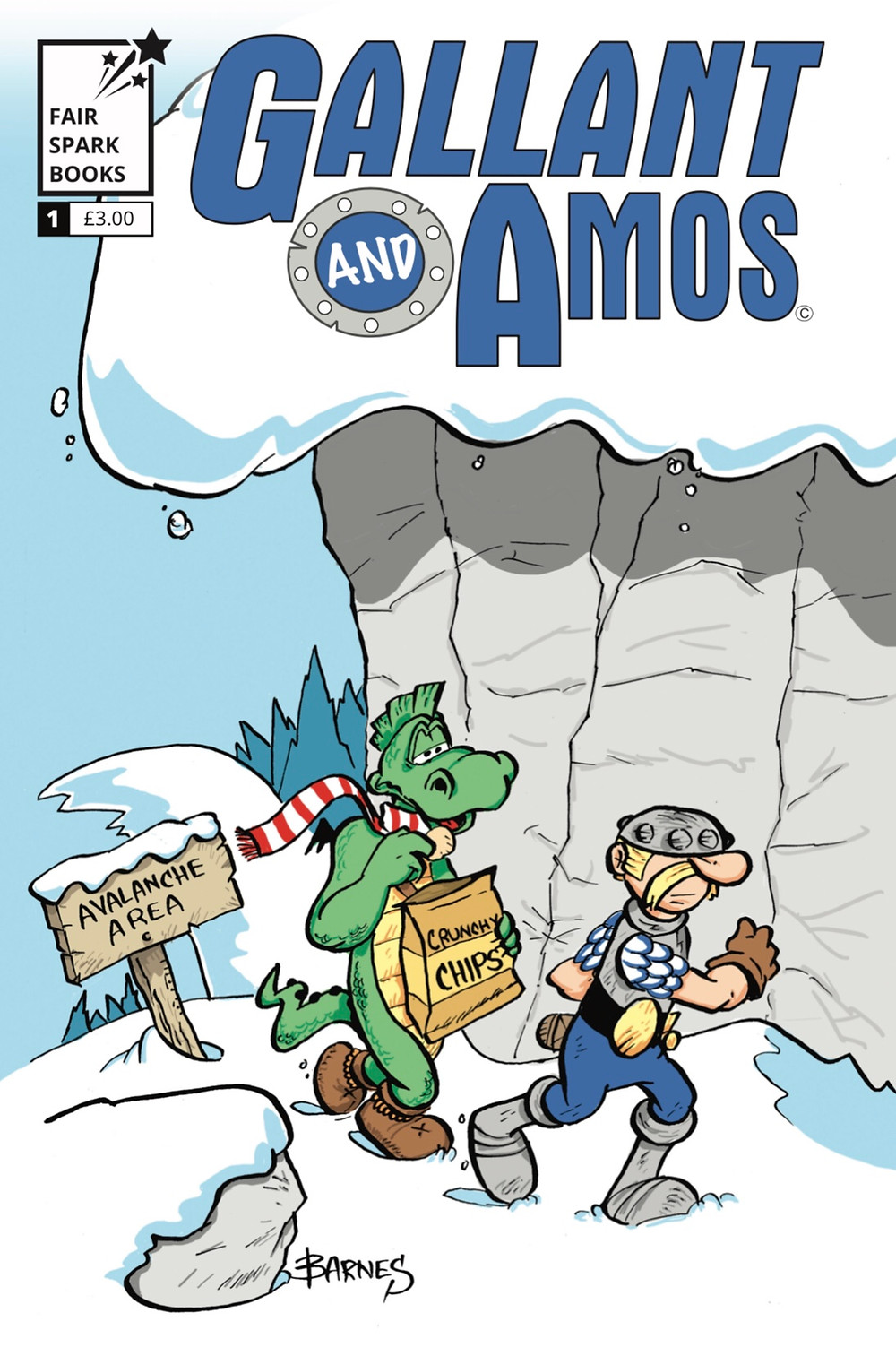 Gallant & Amos, issue 1, cover, Fair Spark Books, Barnes