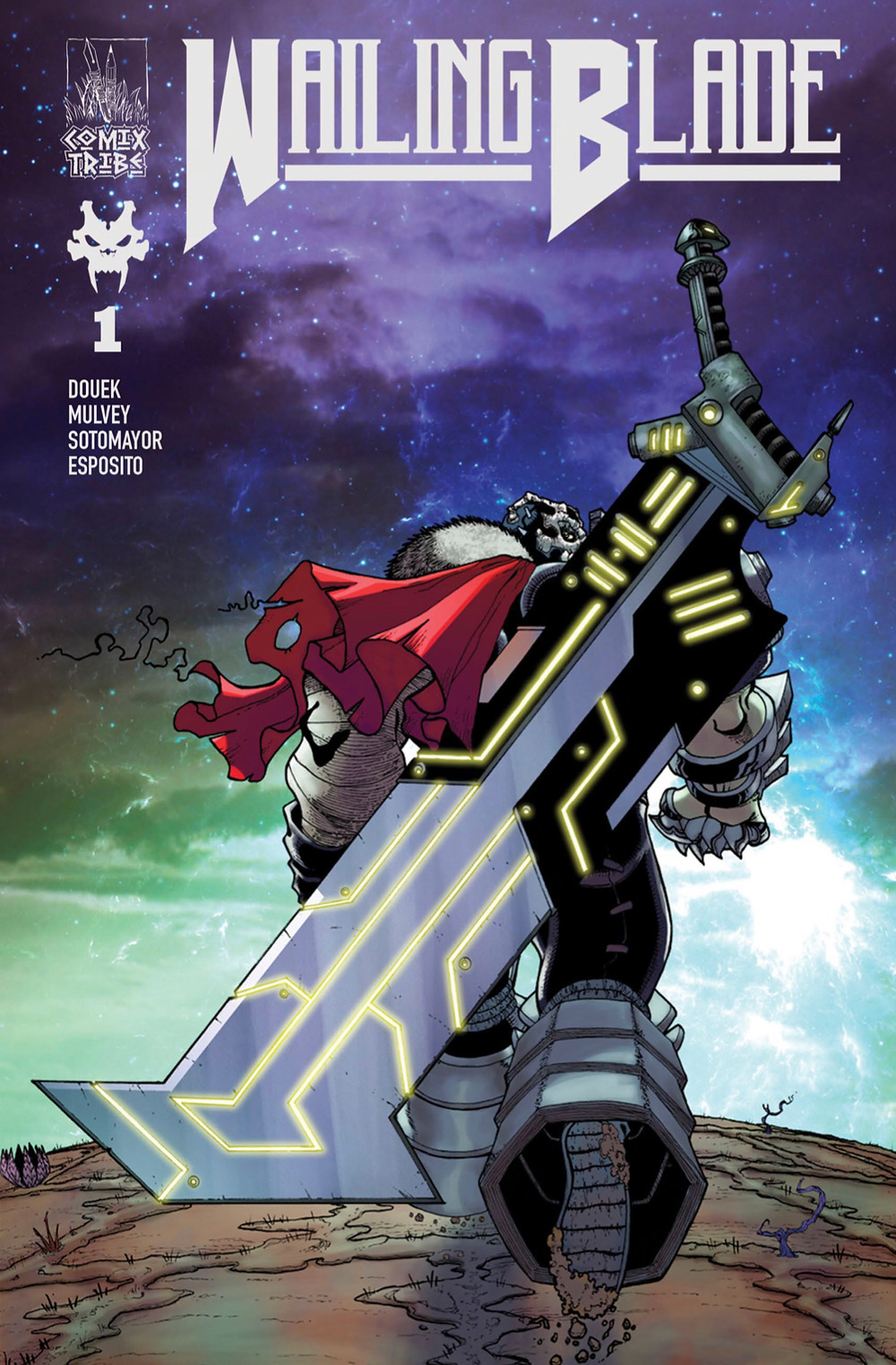 Wailing Blade, issue #1, cover, ComixTribe, Douek/Mulvey