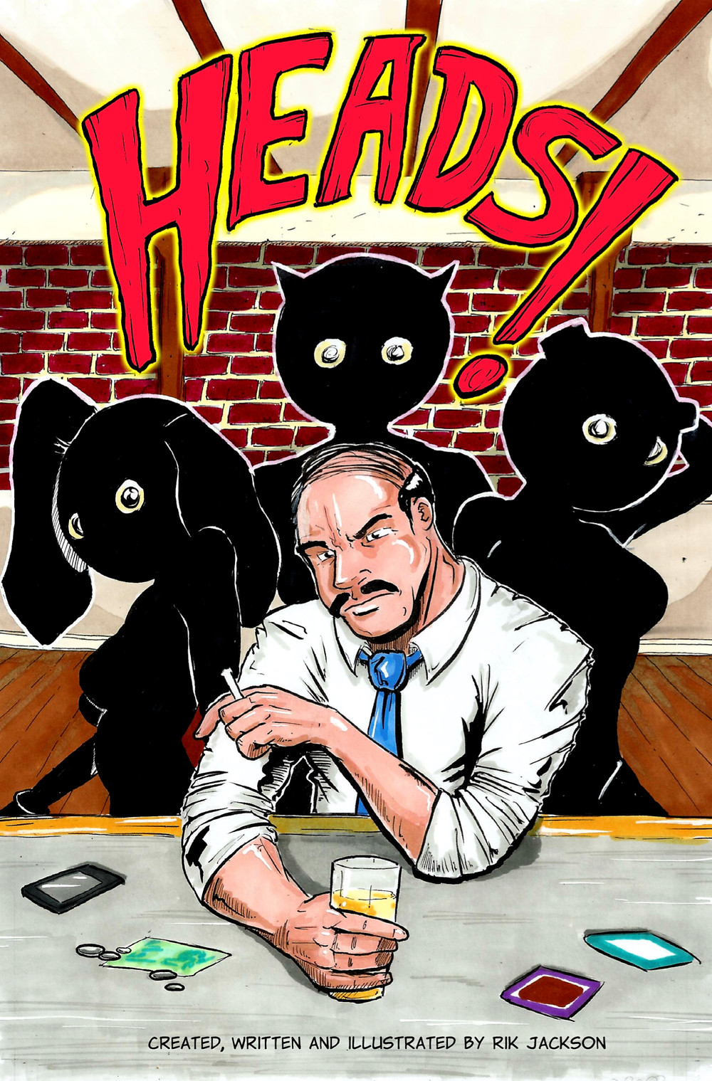 Heads!, issue #1, cover, self-published, Jackson