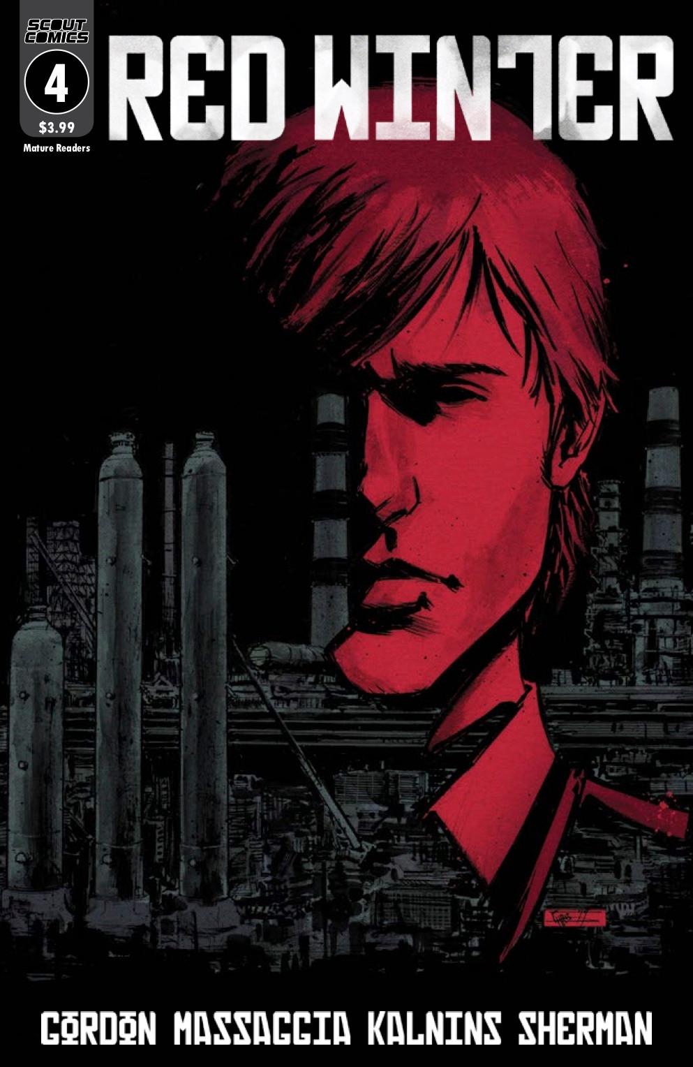 Red Winter, issue #4, cover, Scout Comics, Gordon/Massaggia