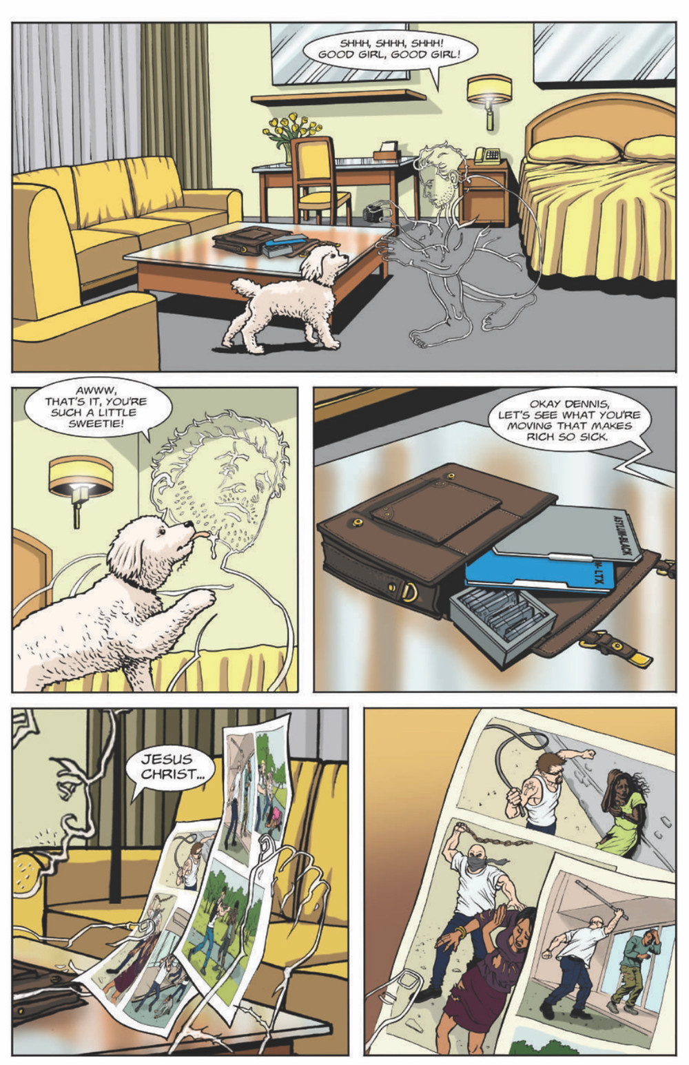 The Naked Eye, issue #1, page 5, self-published, Doring/Delvecchio