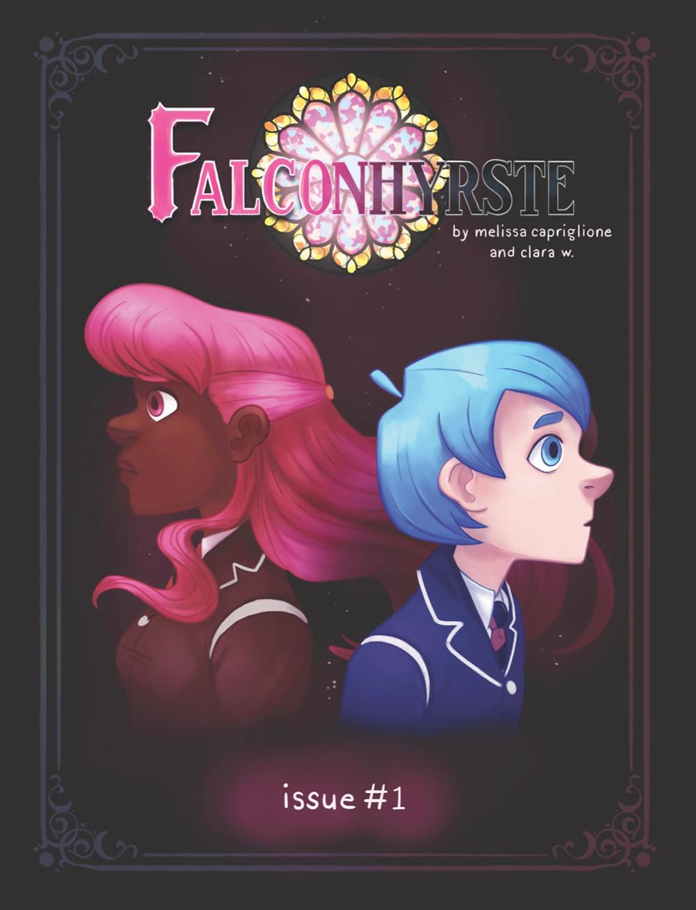 Falconhyrste, issue #1, cover, Self-published, Capriglione/Clara W.