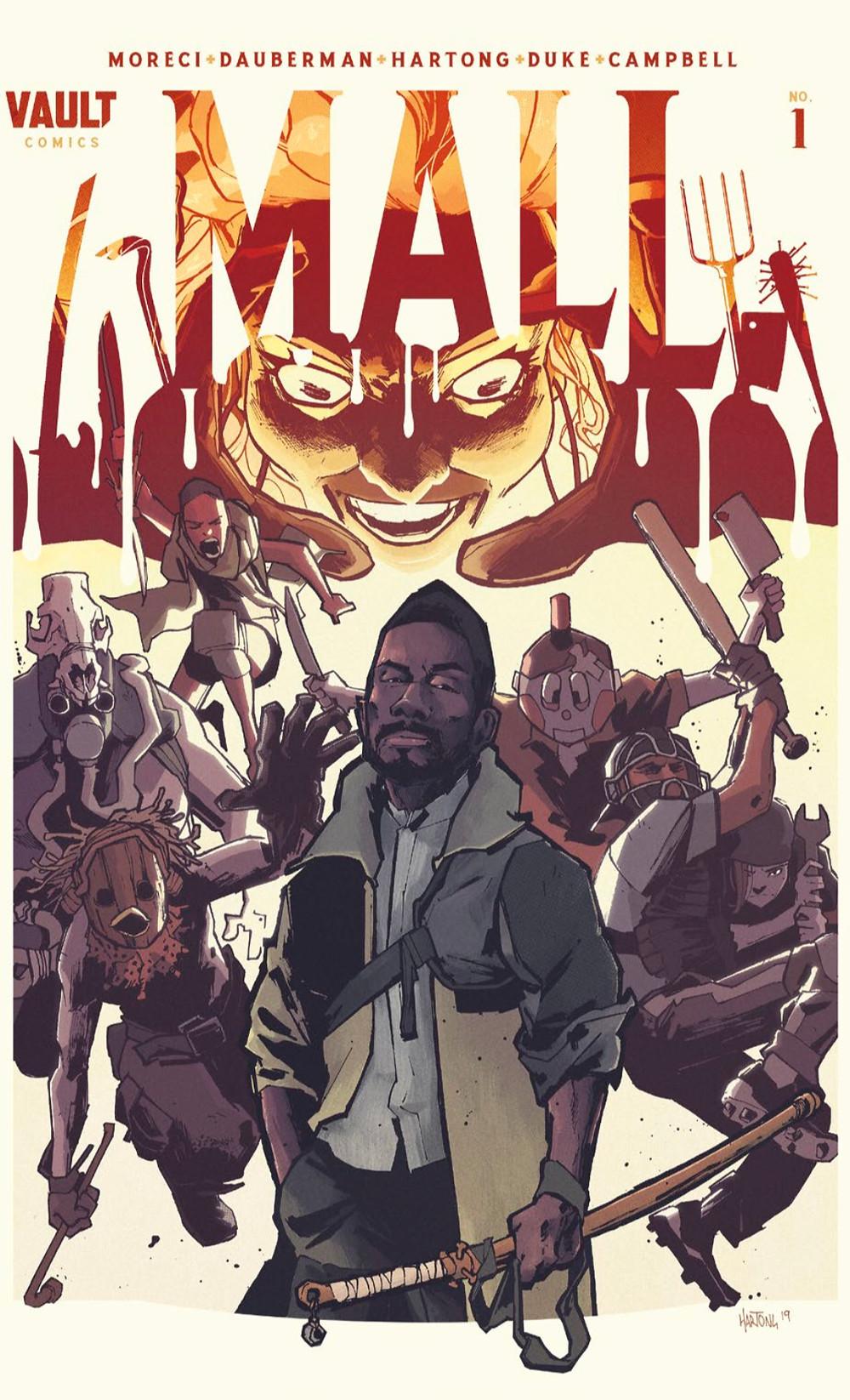 Mall, issue #1, cover, Vault Comics, Moreci/Dauberman/Hartong