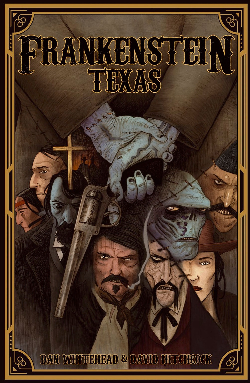 Frankenstein Texas, graphic novel, cover, U.K. Comics Collective, Whitehead/Hitchcock