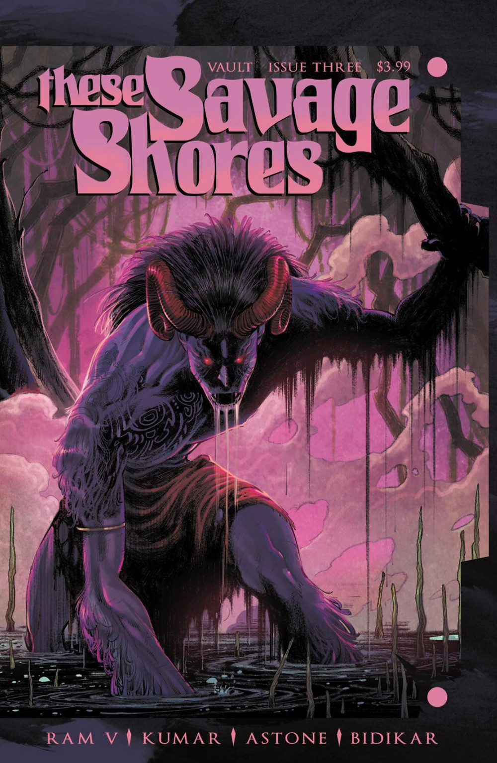 These Savage Shores, Issue #3, cover, Vault Comics, Ram V/Kumar