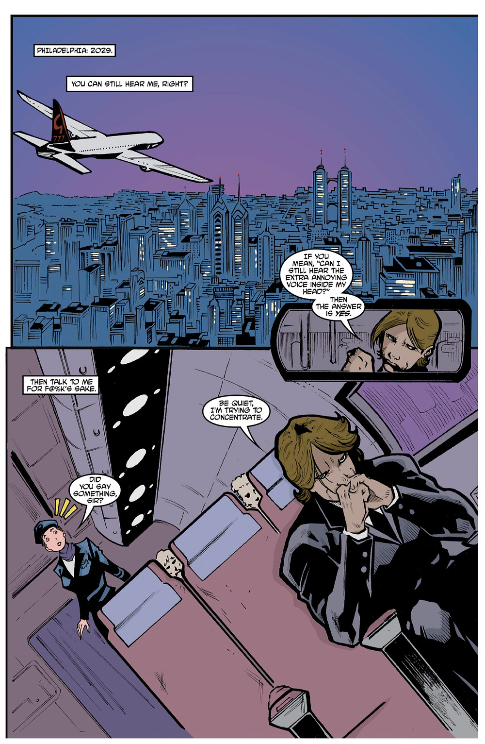 Transfer, issue #1, page 3, self-published, Garvey/Messiah, cover by Dizevez