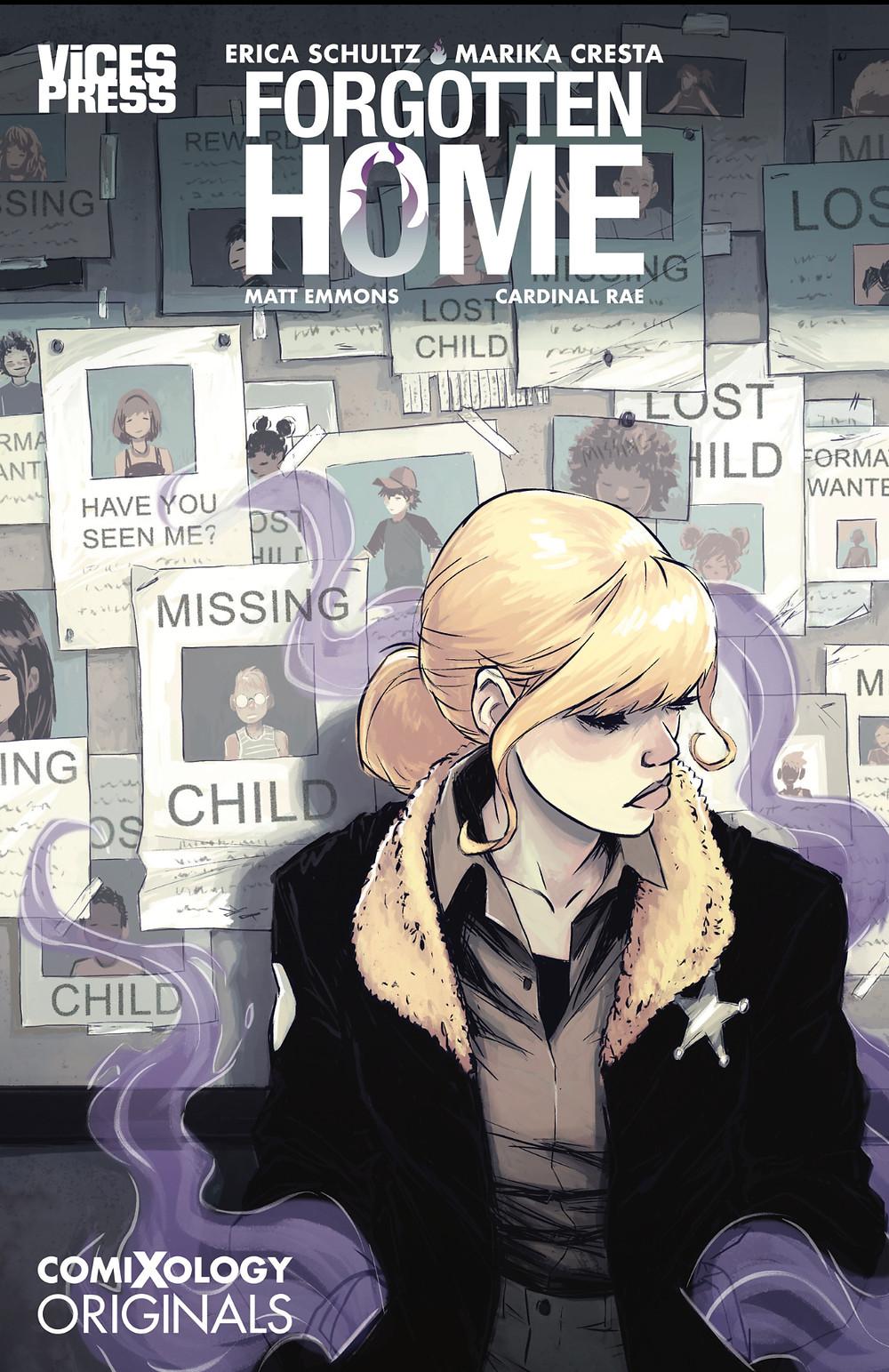 Forgotten Home, issue #1, cover by Natasha Alterici, Vices Press, Schultz/Cresta