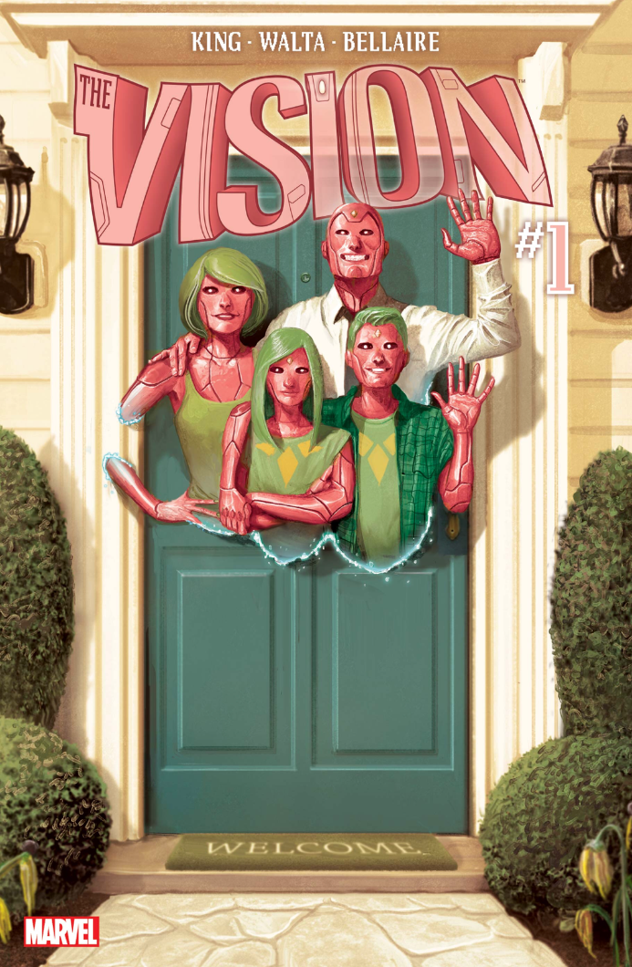 The Vision (tpb), cover, Marvel Comics, King/Walta