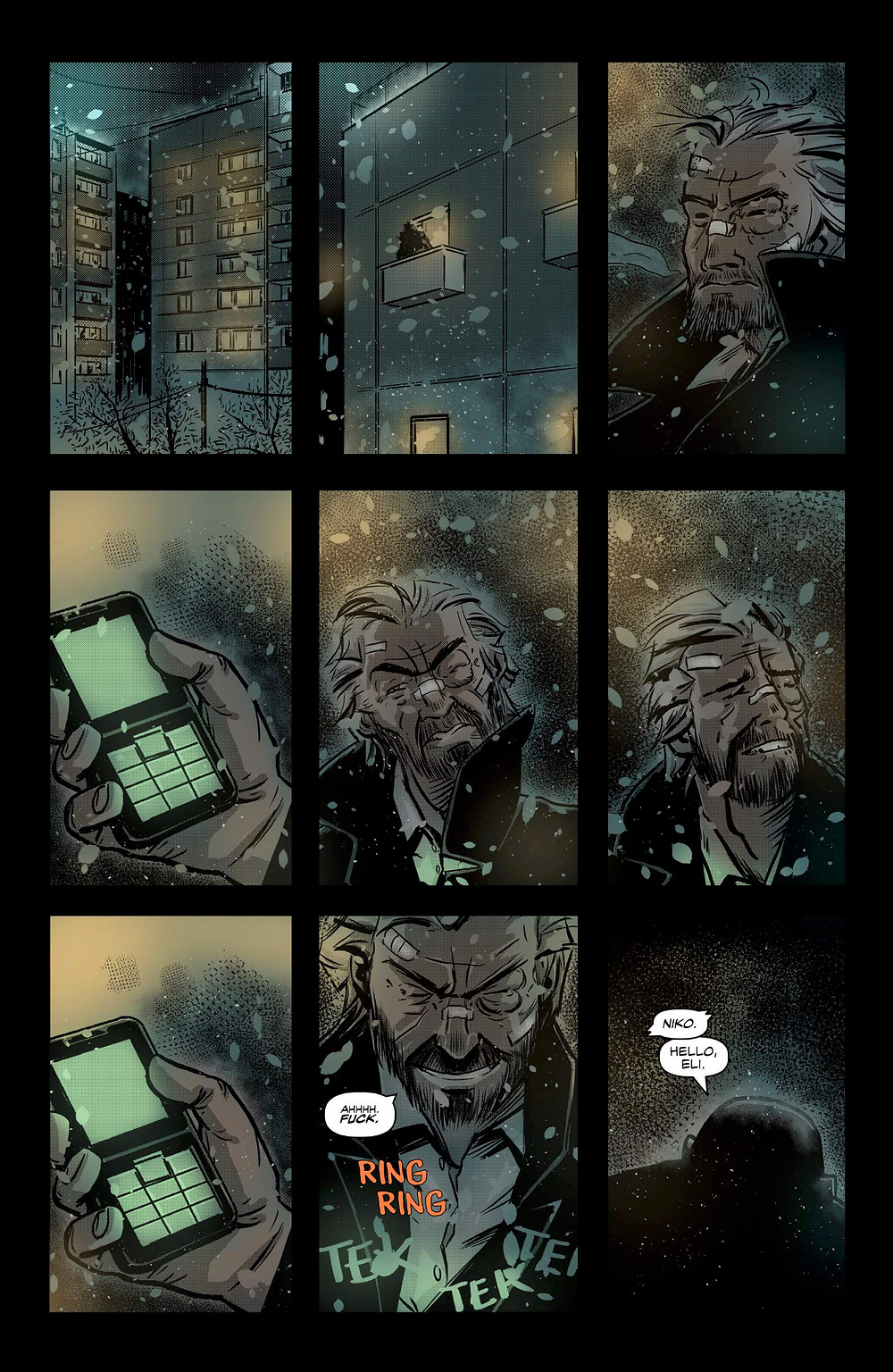 Red Winter, issue #1, page 8, Scout Comics, Gordon/Munoz