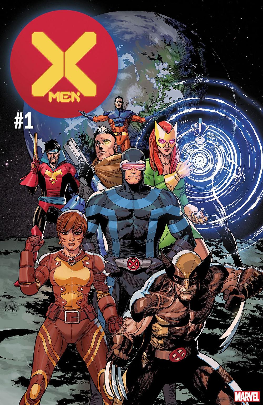 X-Men #1, cover, Marvel Comics, Leinil Francis Yu