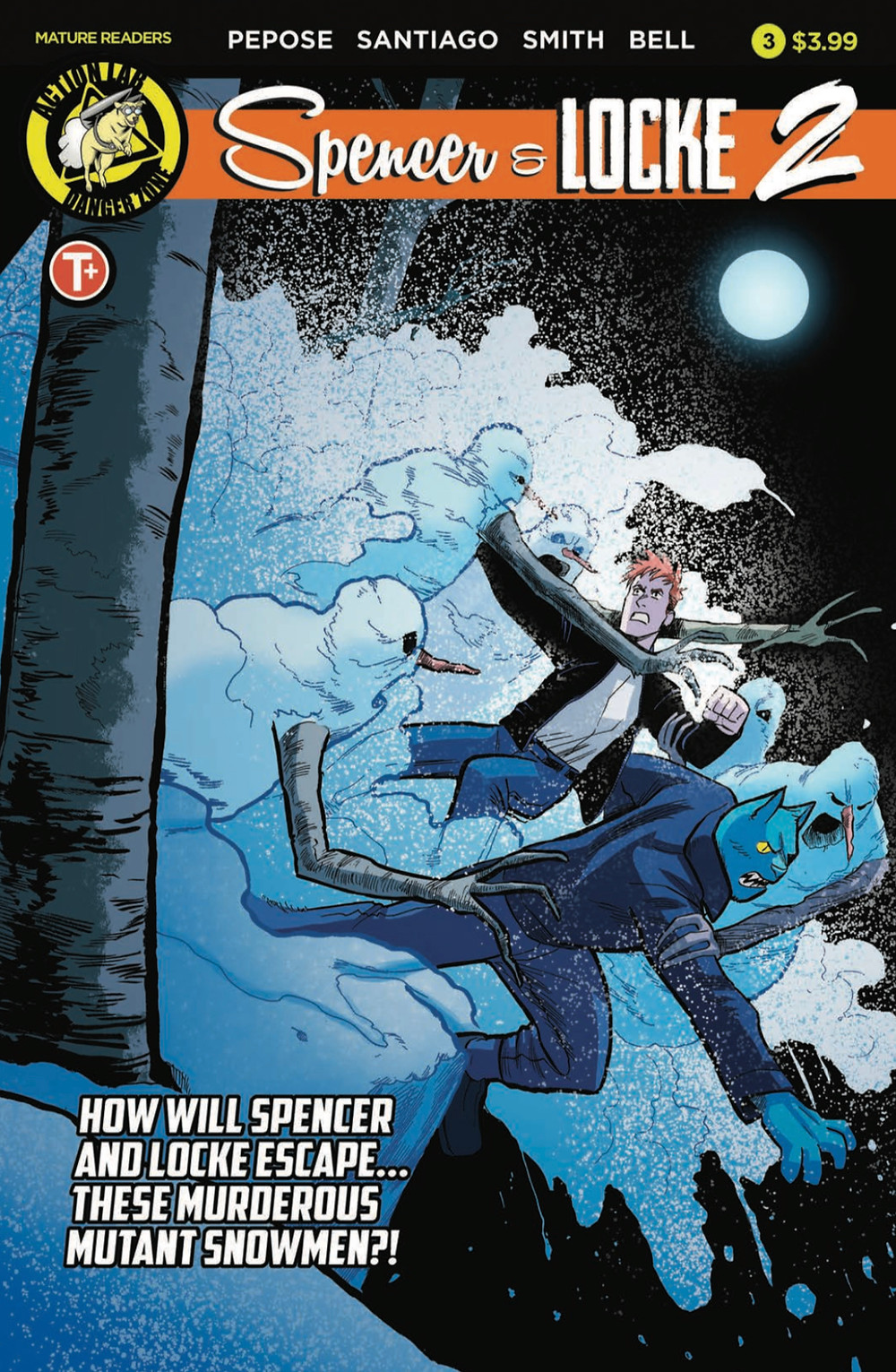 Spencer & Locke 2 #3, cover, Action Lab Entertainment, Pepose/Santiago, Jr.
