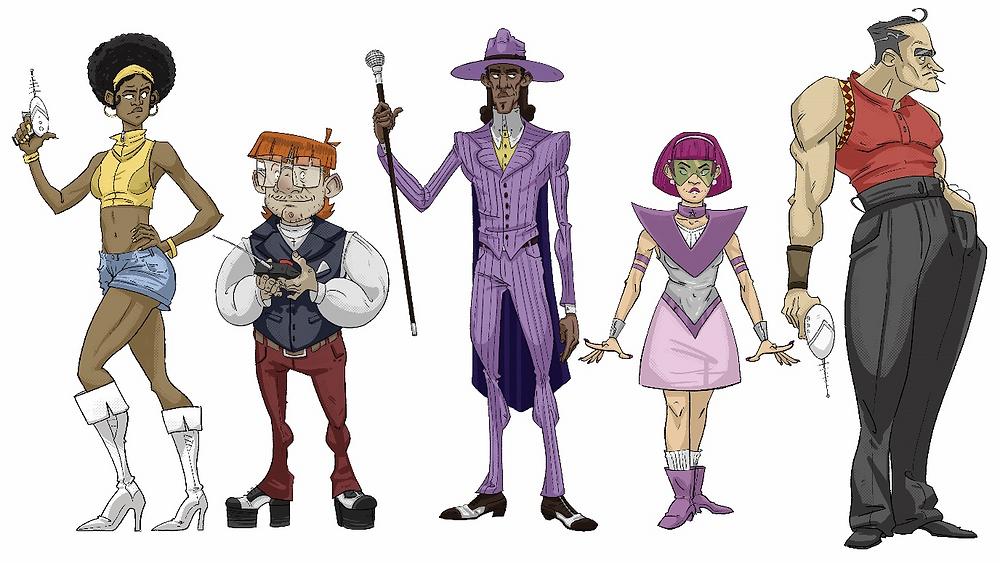 """The Disconauts"" character illustrations by Luke Balmer-Kemp"