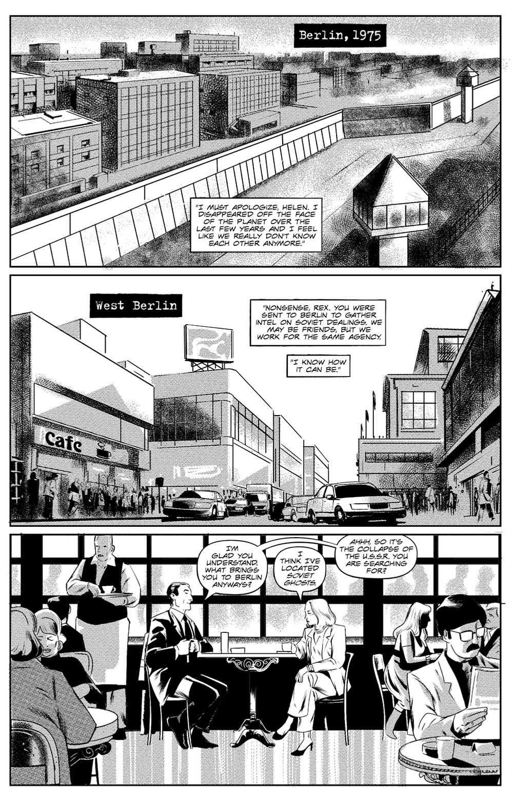 Soviet Ghosts, one-shot, page 2, self-published, Harshman/Utrera