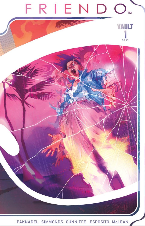 Friendo™, Issue #1, cover, Vault Comics, Paknadel/Simmonds