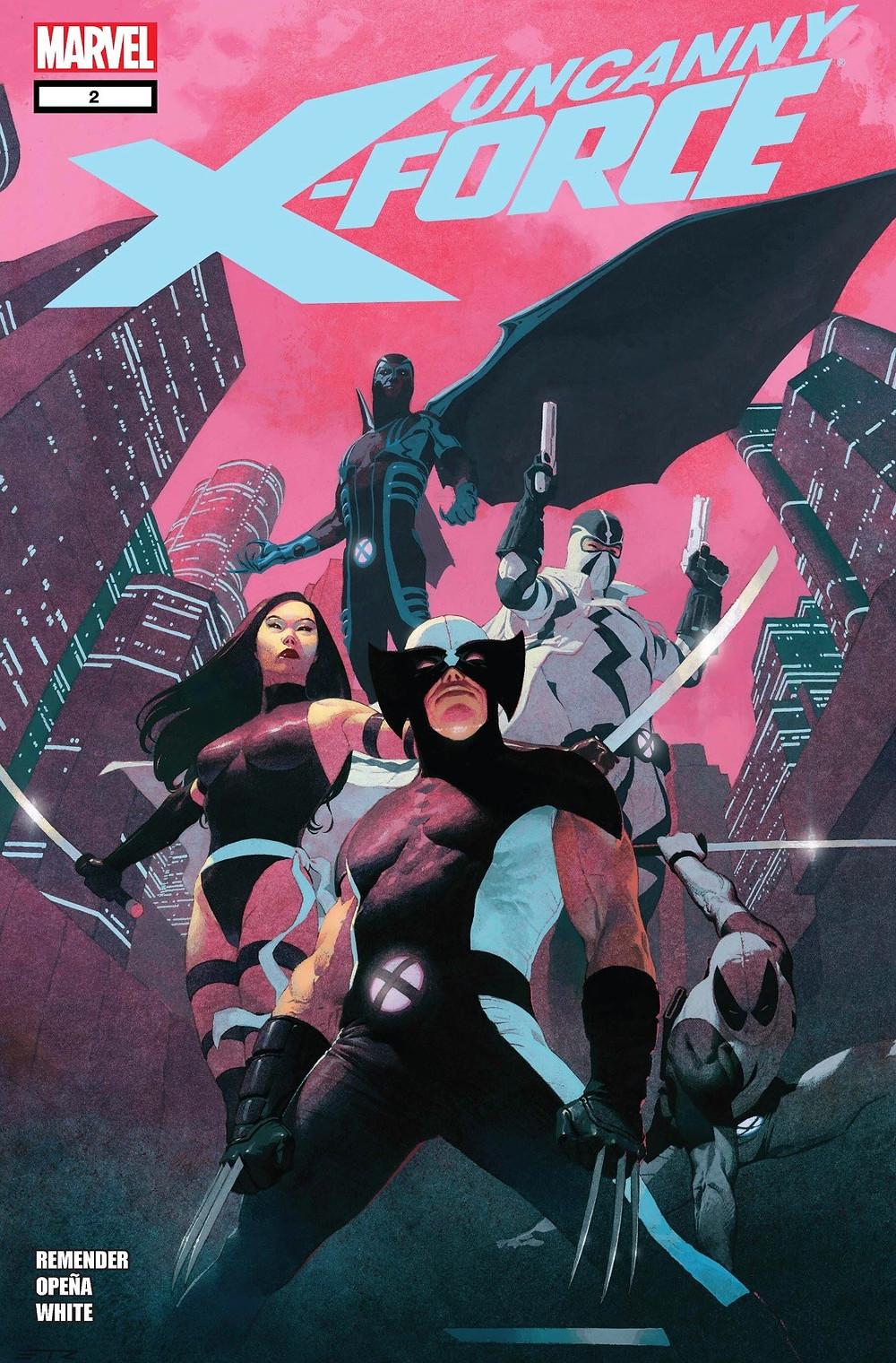 Uncanny X-Force #2, cover, Marvel Comics, Remender/Opeña
