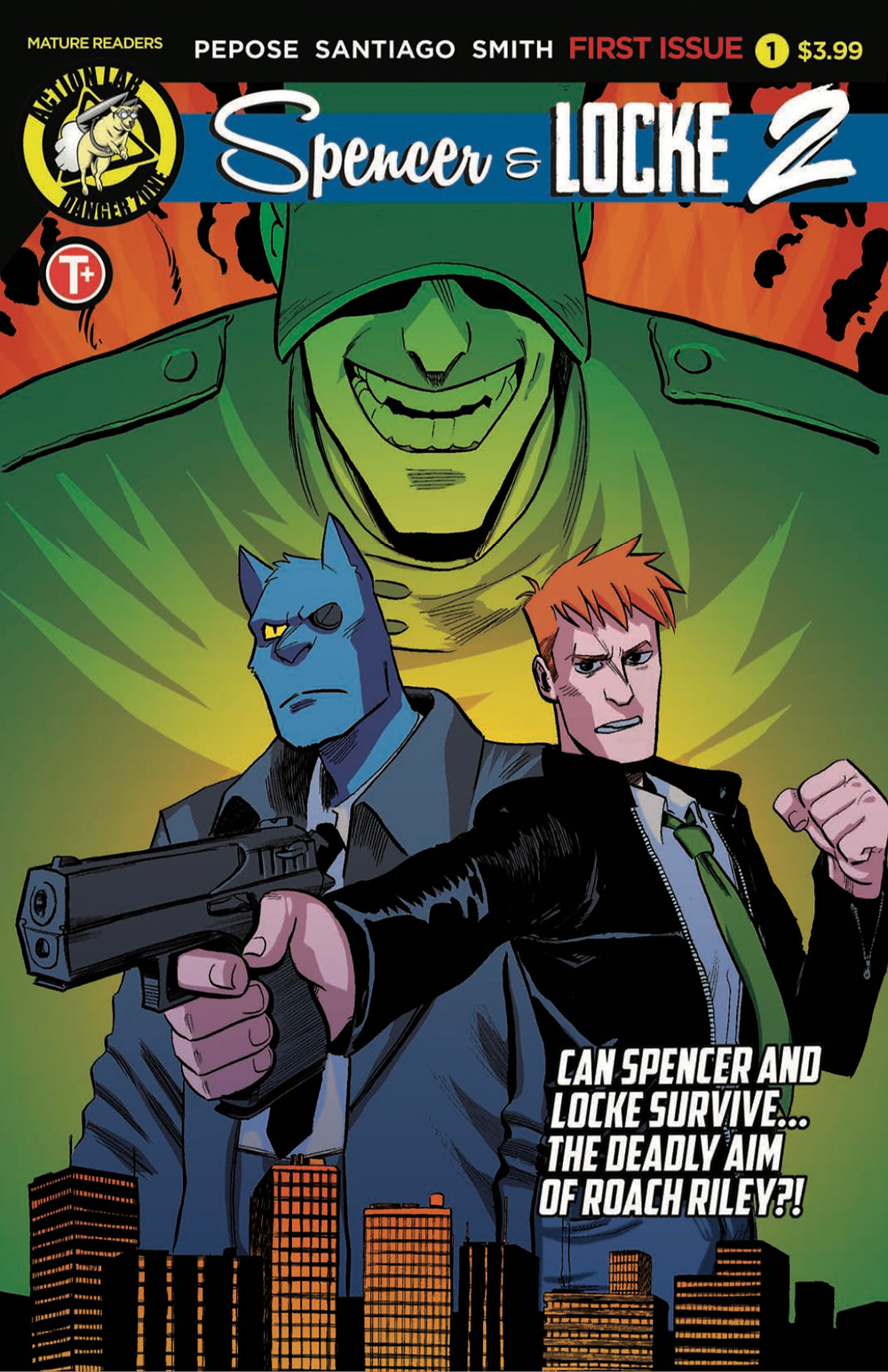 Spencer & Locke 2 #1, cover, Action Lab Entertainment, Pepose/Santiago, Jr.