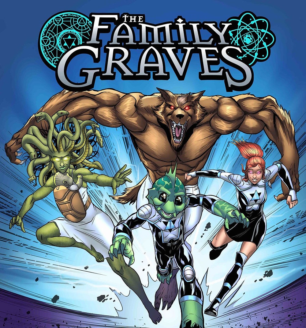The Family Graves, promotional image, Source Point Press, Bach/Atkins
