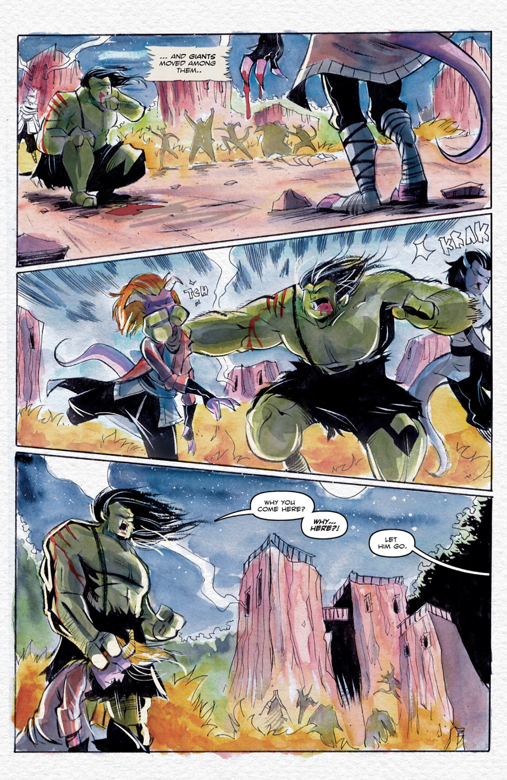 Ogre, issue #1, page 3, self-published, Salley/Daley