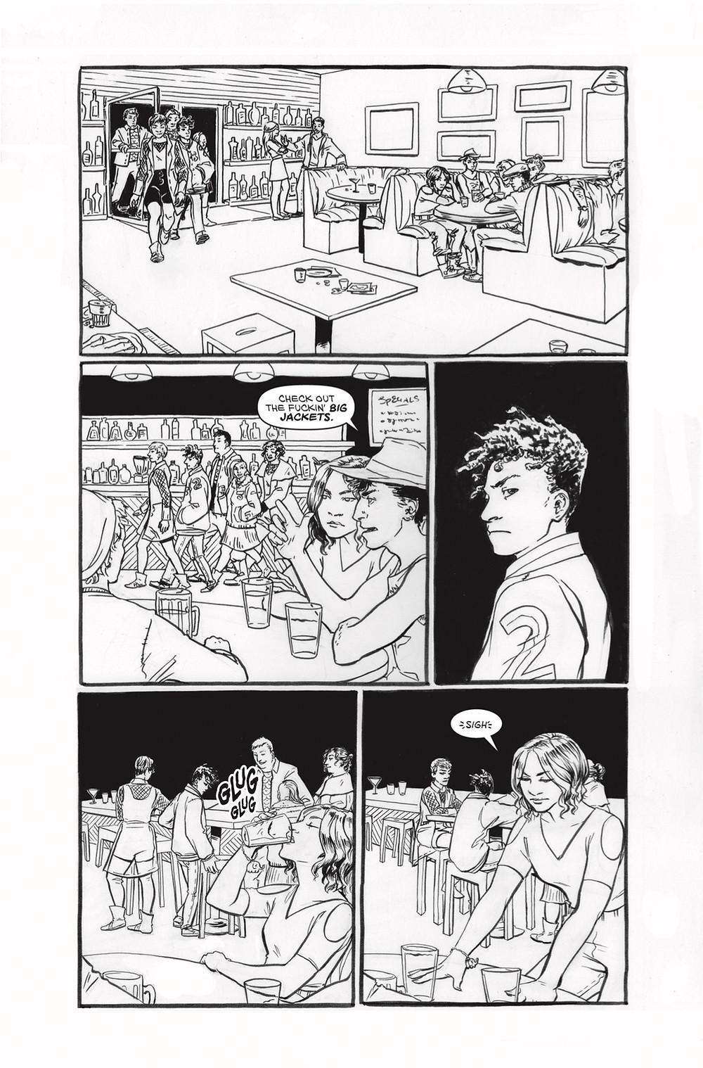 20 Fists #1, page 4, self-published, White/Baumann