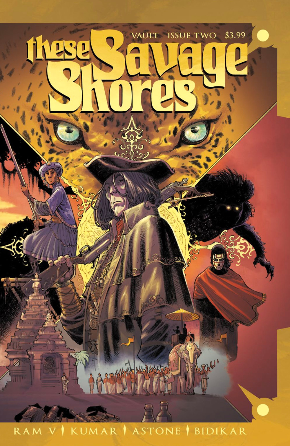 These Savage Shores, Issue #2, cover, Vault Comics, Ram V/Kumar