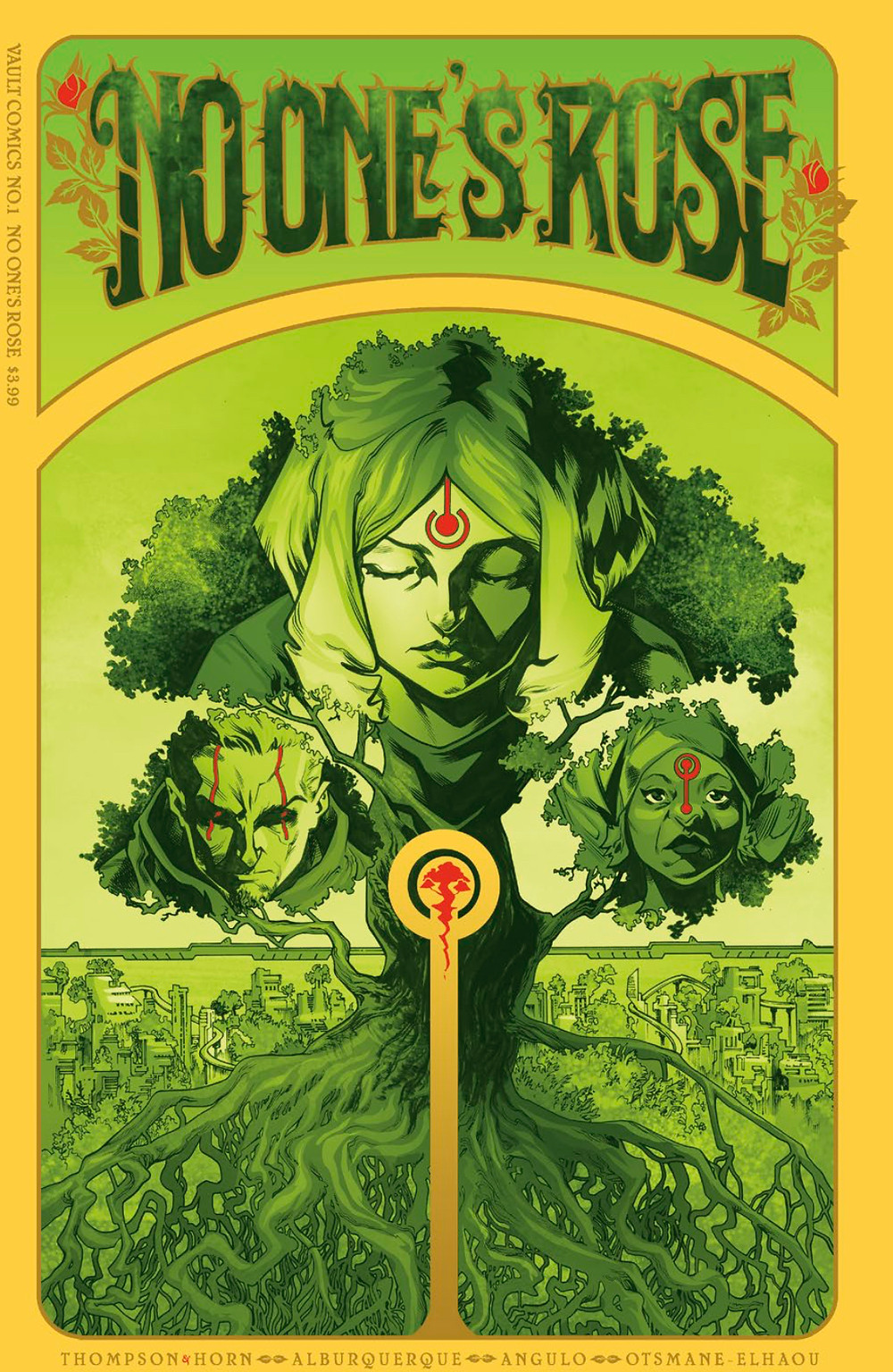 No One's Rose, Vol.1, cover, Vault Comics, Thompson/Horn/Alburquerque