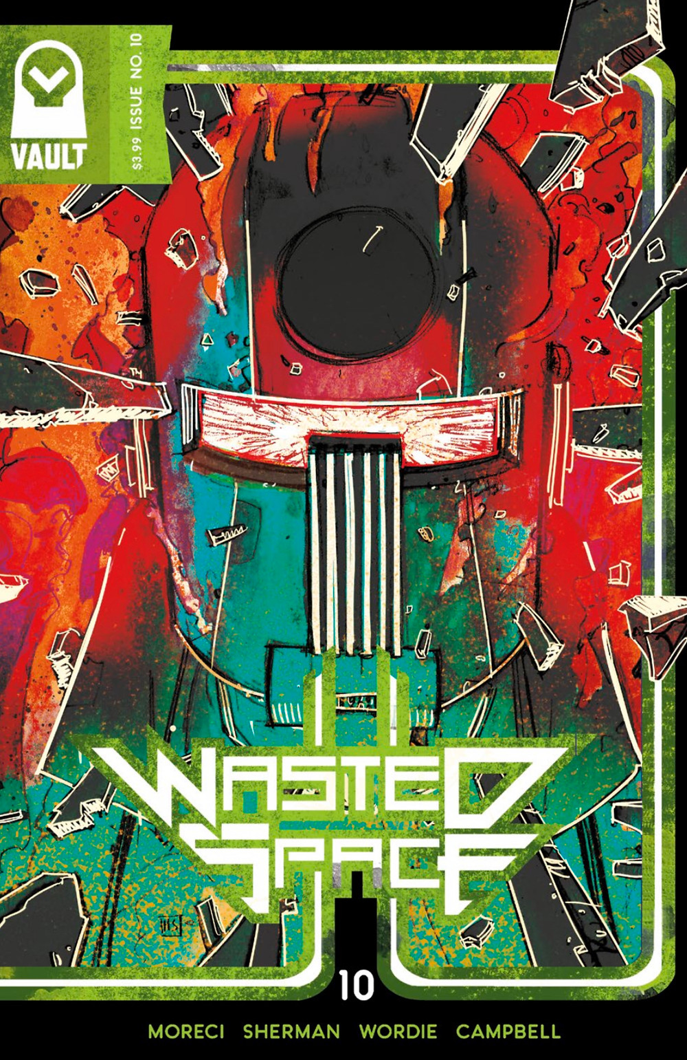 Wasted Space, issue #10, cover, Vault Comics, Moreci/Sherman