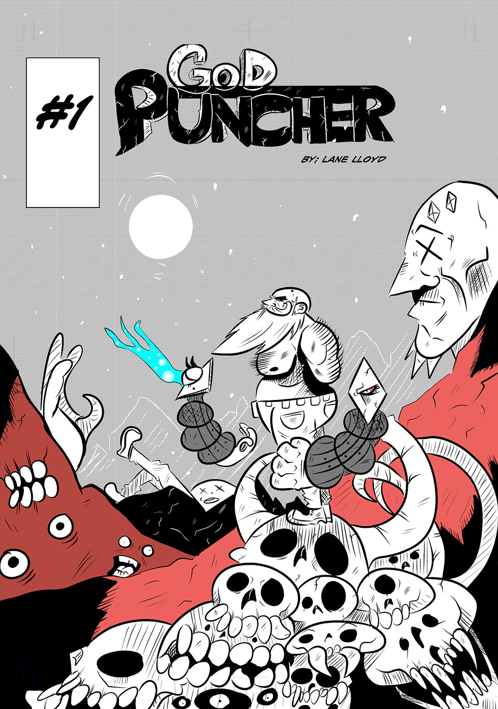 God Puncher, issue #1, cover, self-published, Lane Lloyd