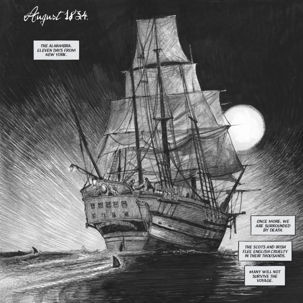 Frankenstein Texas, graphic novel, page 3, U.K. Comics Collective, Whitehead/Hitchcock