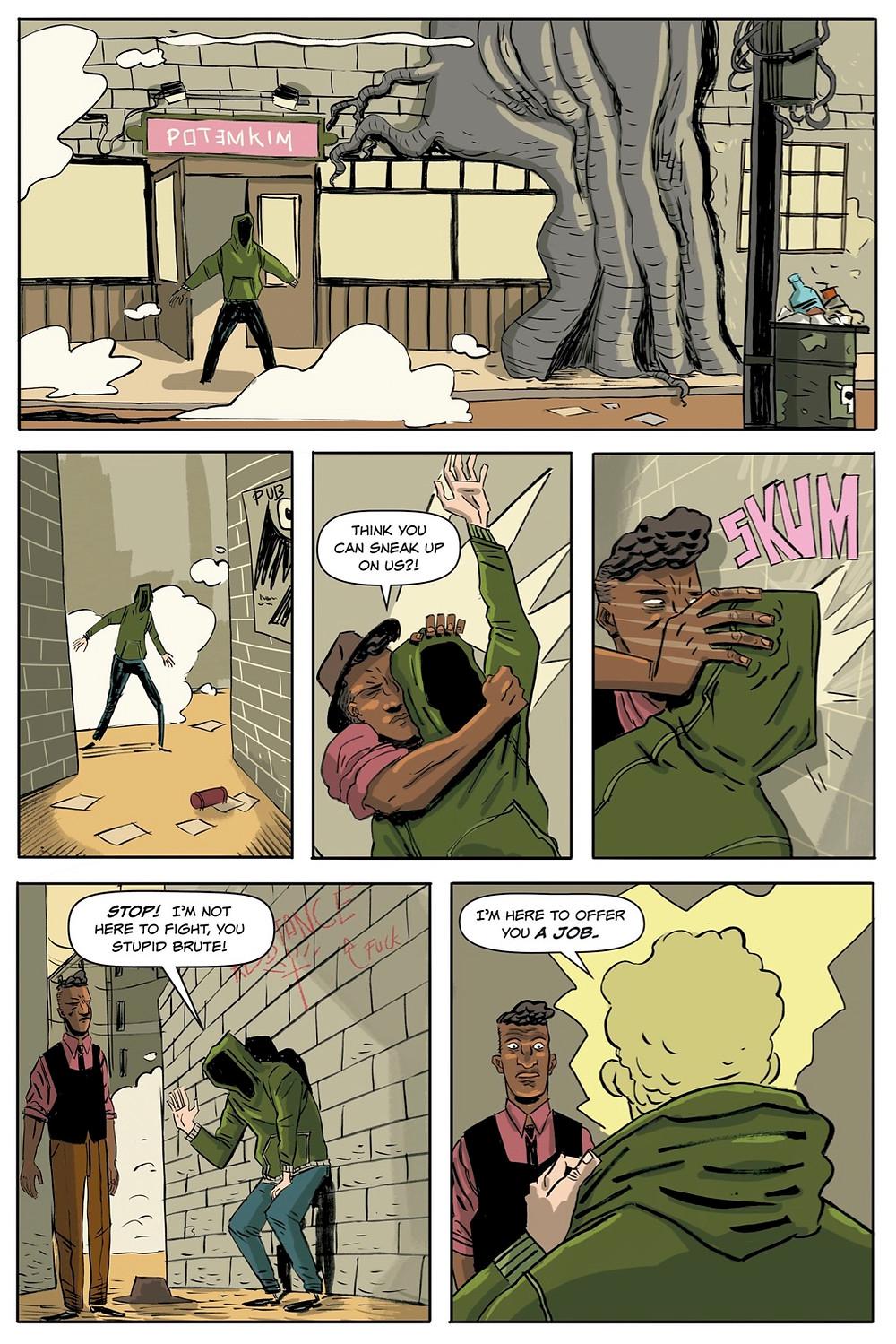 Heavenly Blues (tpb), page 10, Scout Comics, Kahn/Hidalgo