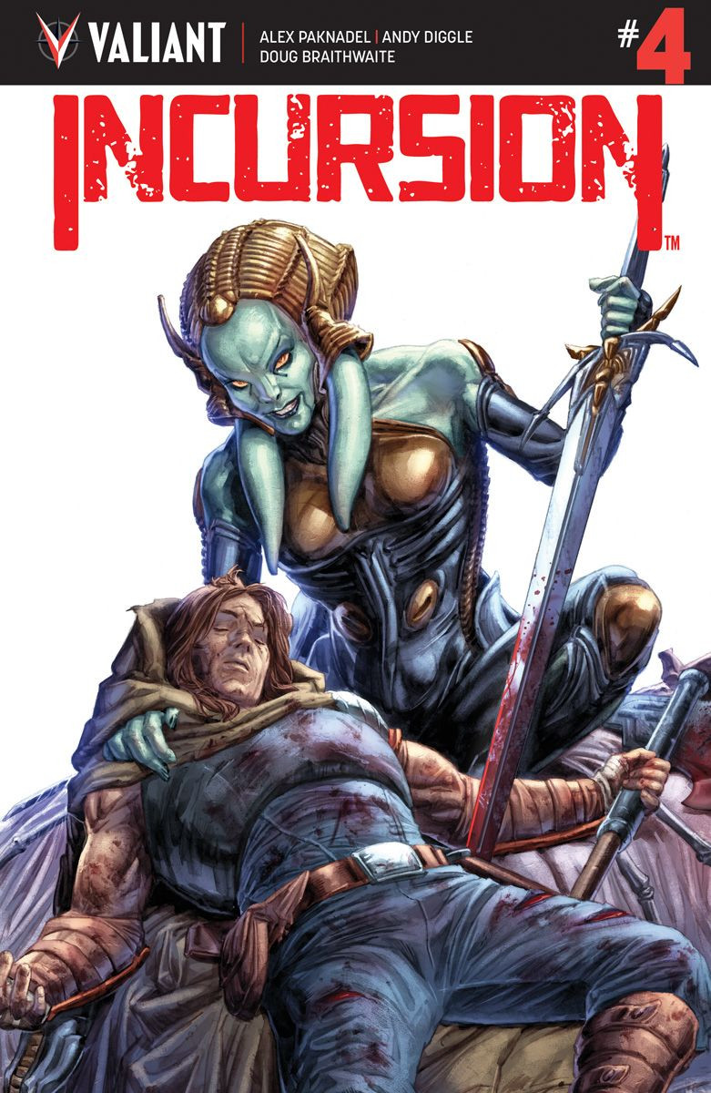 Incursion, Issue #4, cover, Valiant Comics, Diggle/Paknadel/Braithwaite, covers from Doug Braithwaite, Diego Rodriguez, Renato Guedes, Tonei Zonjic