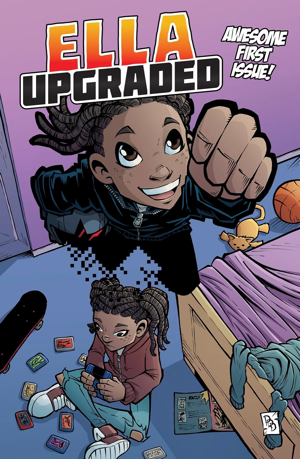 Ella Upgraded, issue #1, cover, self-published, Whitehead/Dedelis