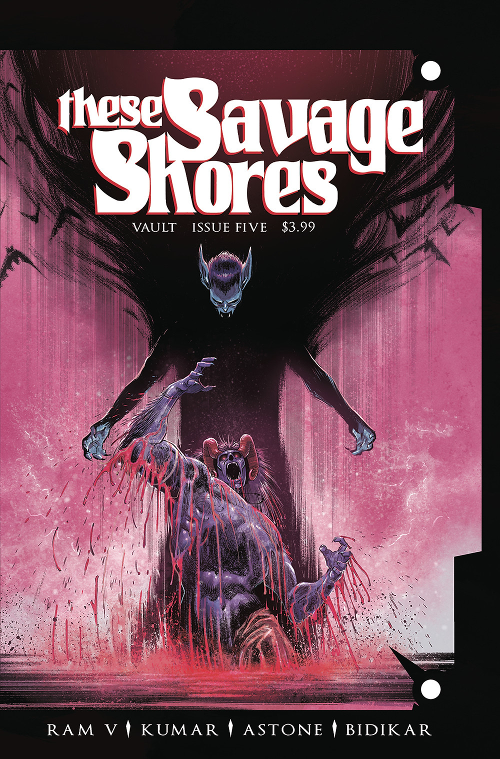 These Savage Shores, Issue #5, cover, Vault Comics, Ram V/Sumit Kumar