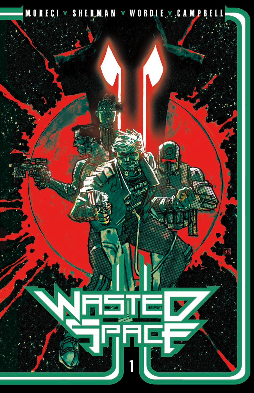 Wasted Space (tpb), cover, Vault Comics, Moreci/Sherman