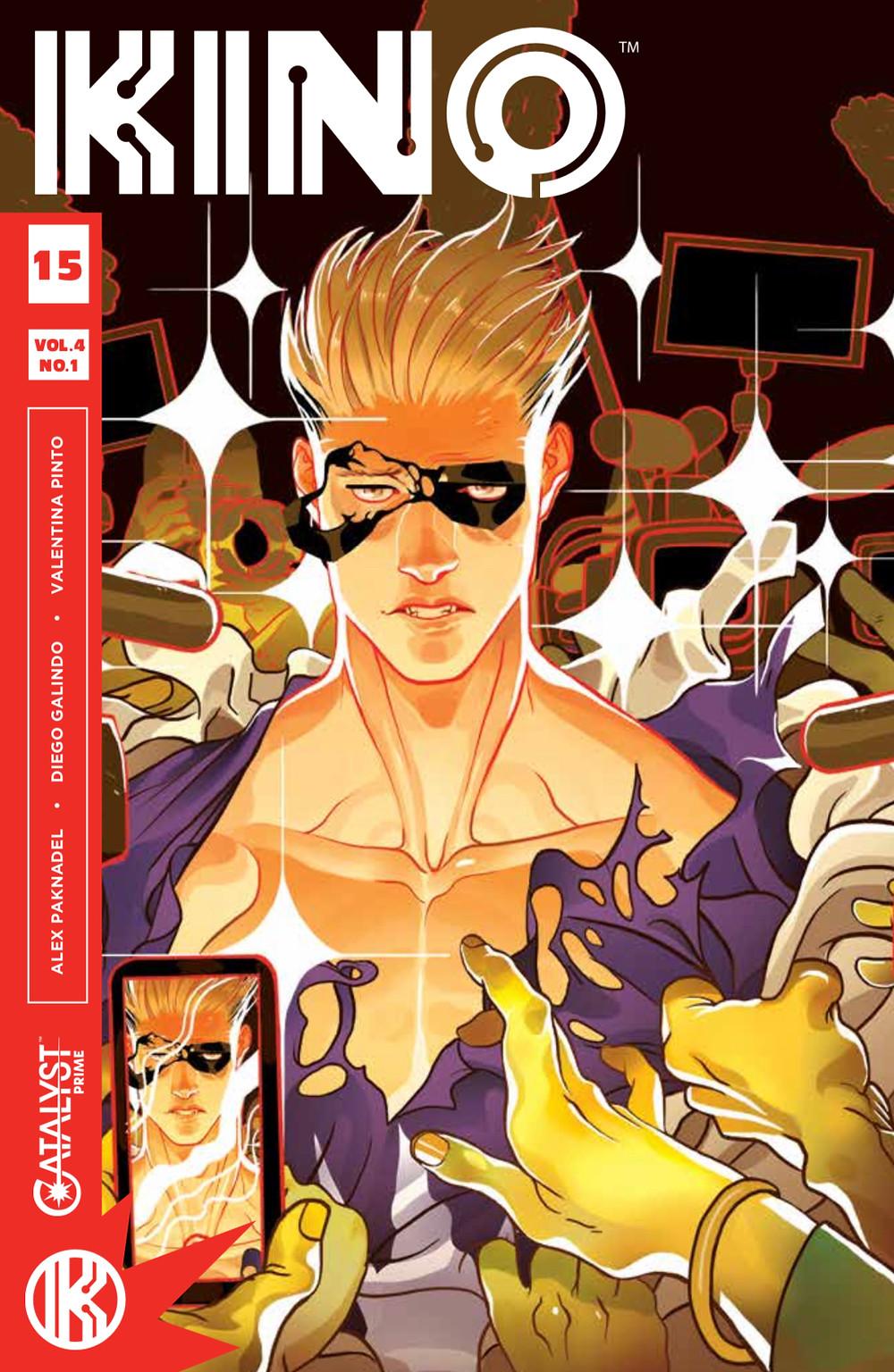 KINO, Issue #15, cover by Baldemar Rivas, Lion Forge, Paknadel/Galindo