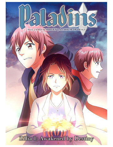 Paladins, issue #1, cover, self-published, Kniseley/House of Imagi