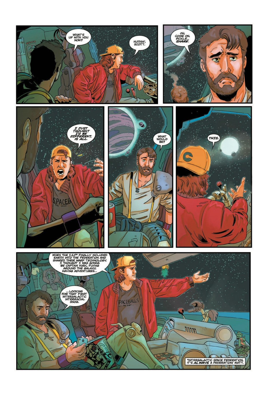 Untitled Generic Space Comedy, issue #1, page 4, self-published, Garvey/McFarlane