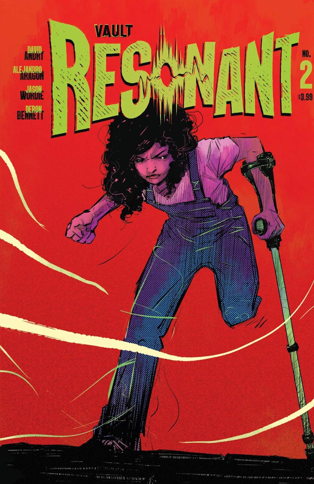Resonant, issue #2, cover, Vault Comics, Andry/Aragón