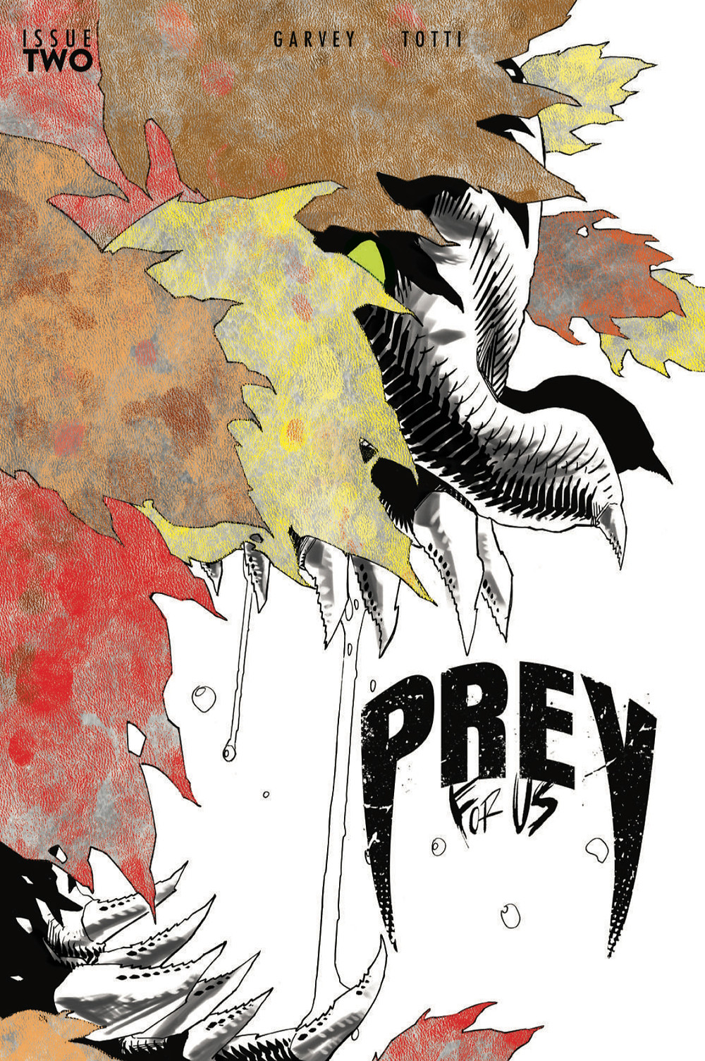 Prey For Us, issue #2, cover by John McCrea, self-published, Garvey/Totti