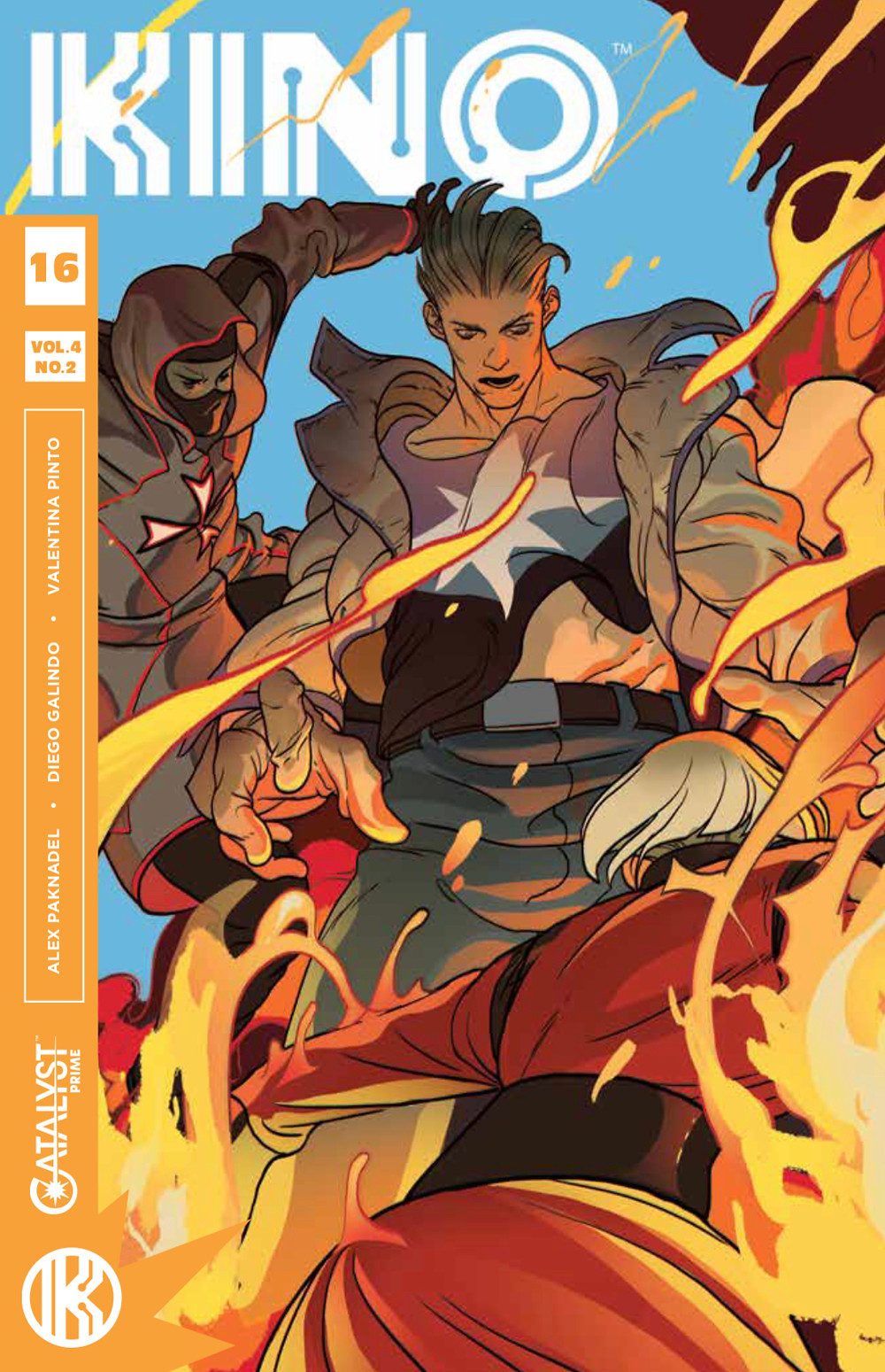 KINO, Issue #16, cover by Baldemar Rivas, Lion Forge, Paknadel/Galindo