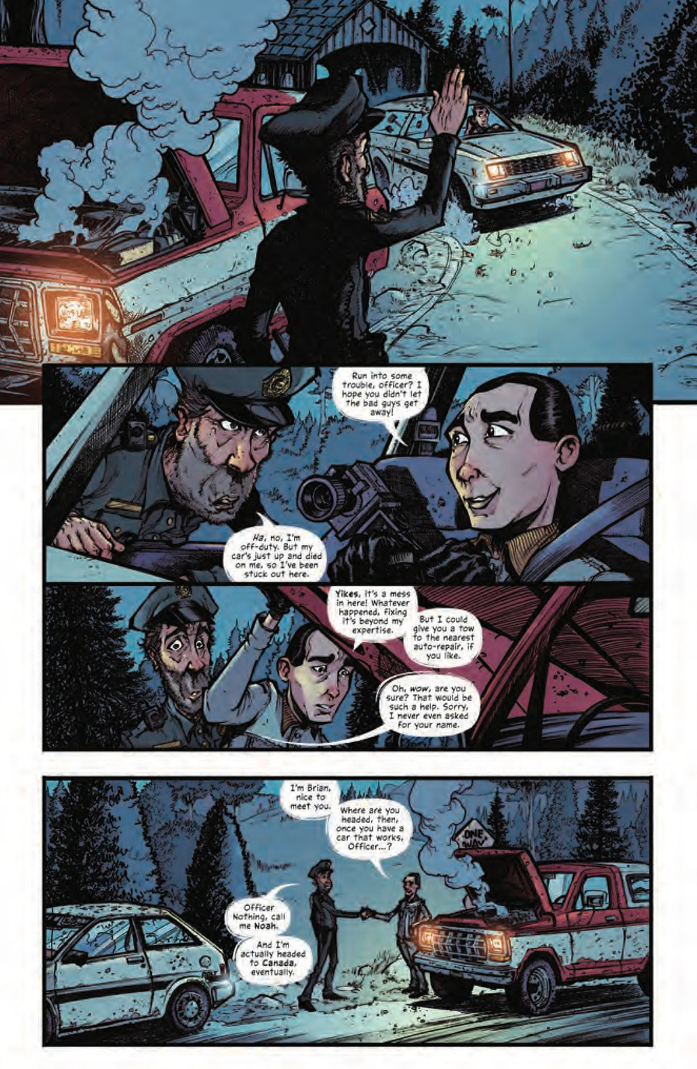 Mountainhead #3, Page 1, IDW, Lees/Lee