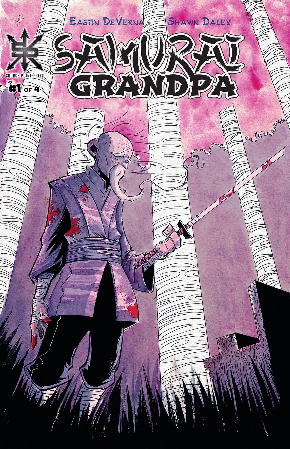 Samurai Grandpa, Vol. 1, cover, Source Point Press, DeVerna/Daley