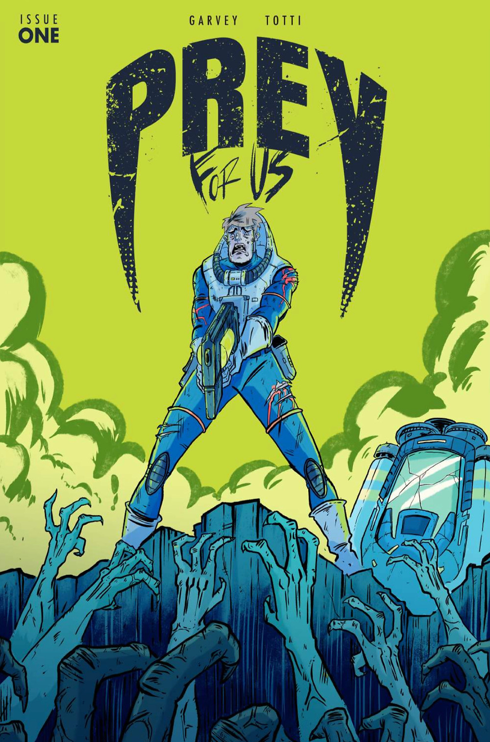 Prey For Us, issue #1, cover, self-published, Garvey/Totti