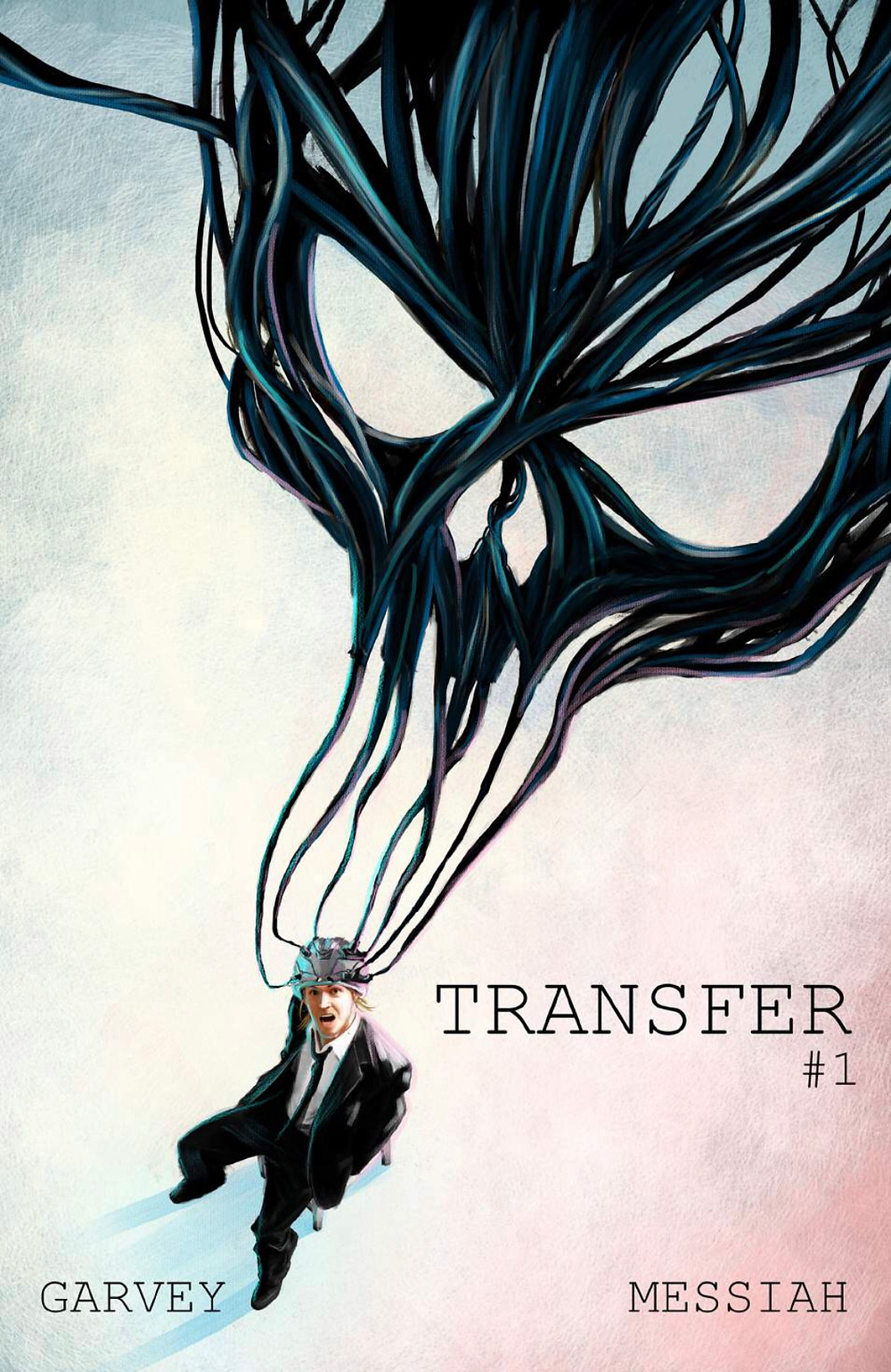Transfer, issue #1, cover, self-published, Garvey/Messiah, cover by Dizevez