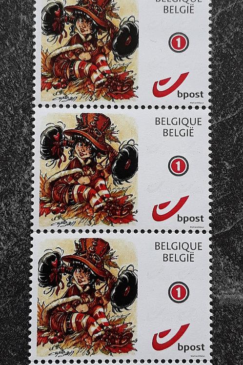 """5 Timbres """"Lily Goussette"""" - Belgique - normalisé 1"""