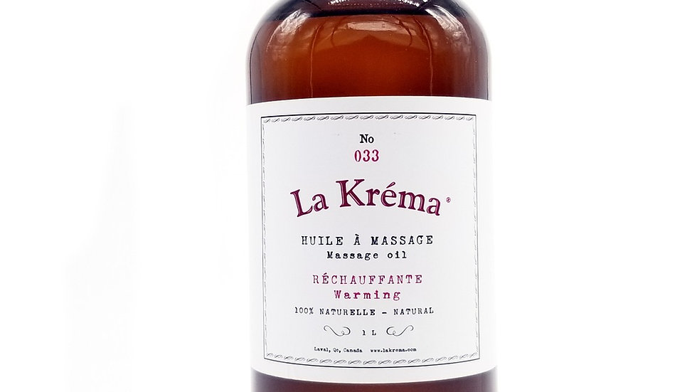 """La Krema - Huile à massage """"Réchauffante"""""""