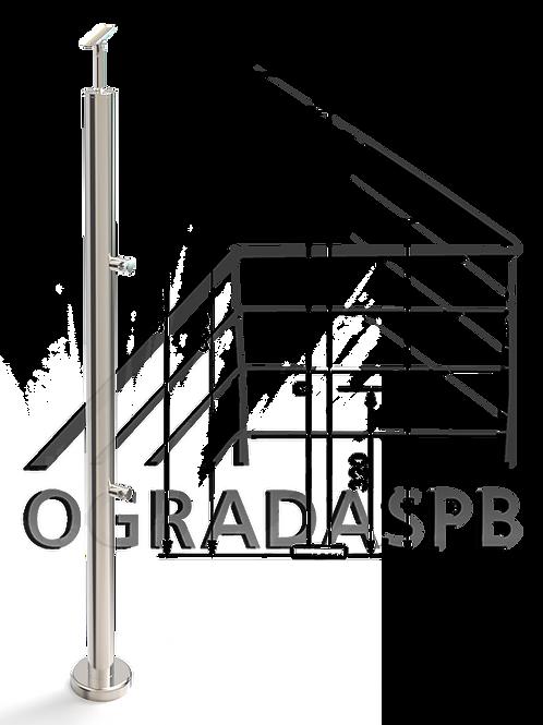 Стойка в сборе d38мм под заполнение 2 леерами AISI304 зеркало