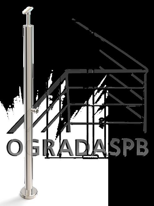 Стойка в сборе d38мм под заполнение 1 леером AISI304 зеркало