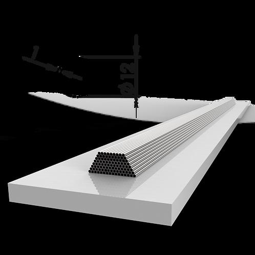Труба 12х1 мм. Длина 6000 мм. Материал: AISI 201 зеркало