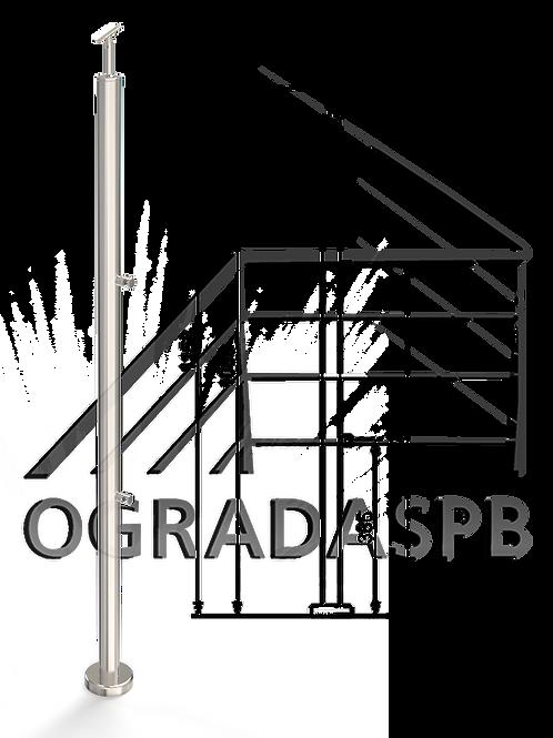 Стойка в сборе под заполнение 2 леерами d38мм AISI304 для огр-ия высотой 1200мм